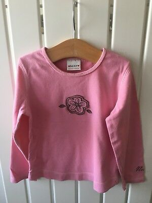 Baby Girls Clothes 18-24 Months - Pink Cotton Long Sleeve Top By NEXT 🌸🌸🌸