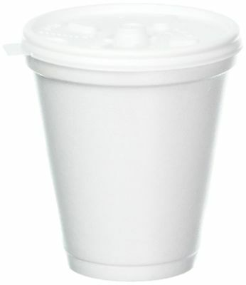 Dart 8 Oz White Disposable Coffee Foam Cups Hot and Cold Drink Cup (Pack of 1...