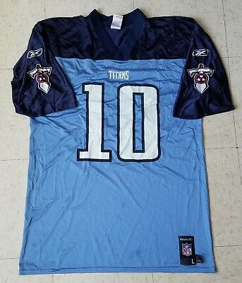 f942c950b6b9 Reebok NFL Tennessee Titans Jersey Vince Young  10 Blue Adult Size Large
