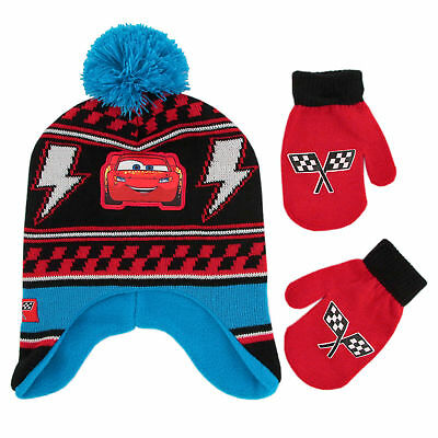 Disney Cars Hat and Mittens Cold Weather Set, Toddler Boys, Age 2-4