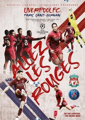 * 2018/19 - LIVERPOOL v PSG (CHAMPIONS LEAGUE - 18th September 2018) *