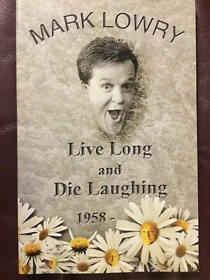 """""""NEW"""" Live Long and Die Laughing by Mark Lowry (2000, Paperback) B2G1F"""