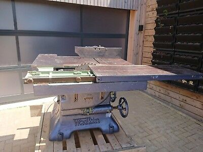 Wadkin PK21 Rip/dimension table saw Sliding bed tilting saw