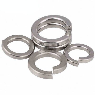 A2/A4 Stainless Steel Split Lock Spring Washers All Size Metric M1.6-M24