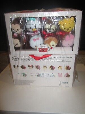 Disney Tsum Tsum Mini Plush 2016 Valentines Candy Box Set Mickey Minnie Pooh