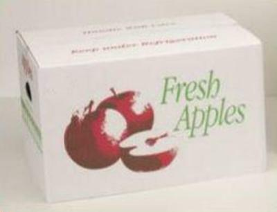 "1 Bushel ""Quality"" Apple Corrugated Box Cover W/ Printed Apple 50 count Reg$130"
