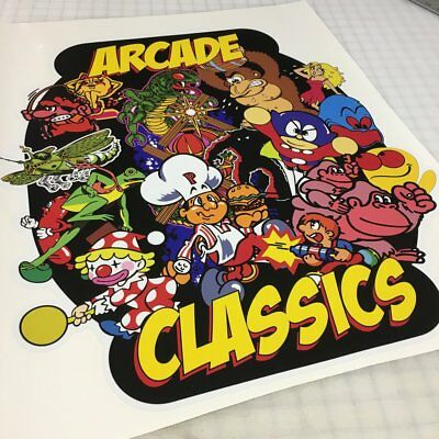 Arcade Classics 60-1 Style Arcade Game Cabinet Side Art on Premium 3M Vinyl