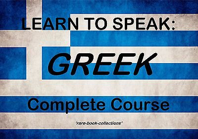 Learn Greek Fast - 23 Hrs Audio Mp3 & 3 Books On Dvd - Spoken Language Course