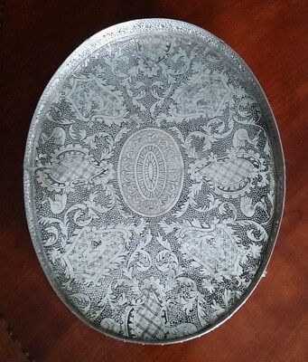Gallery Tray Silverplate with KOI FISH and PHOENIX BIRD Design VERY UNIQUE
