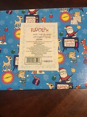 MIB Enesco Rudolph & Island of Misfit Toys GOOD FRIENDS STICK TOGETHER..FOREVER
