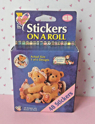 Cherished Teddies Vintage '90's Stickers Box Stickers On A Roll 1998 New