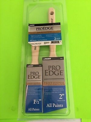 """Brush, Paint, Linzer Proedge Professional For All Paints, Set Of 2 (1-1/2"""" & 2"""")"""