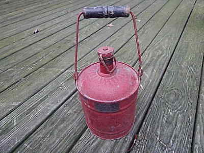 Antique Metal New York City Fire Department Wh Mcnutt Container Nice Usa Sale