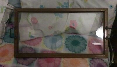 Antique Glass and Maple Serving Tray