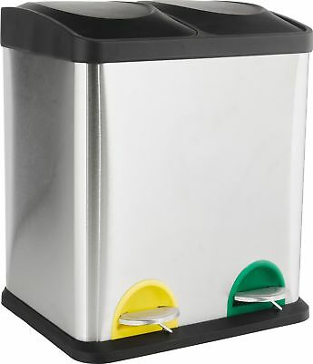 Argos Home 30 Litre Recycling Pedal Bin with 2 Compartments