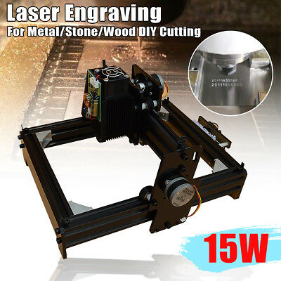 10/12/15W USB Laser Engraver Engraving Machine Metal Iron Stone Printer Cutter
