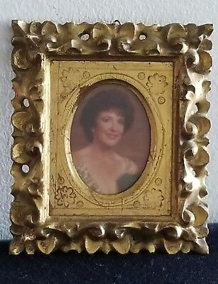 Vintage Italian Gold Gilded Rococo Wood Picture Frame