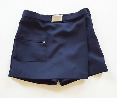 French Toast Official Scholl Wear Girl's Shorts Front Wrap Skirted, Navy, Size 5