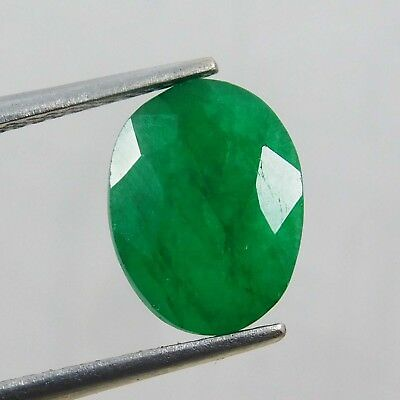 Natural 3.00 Ct Oval Cut Colombian Loose Emerald Gemstone. 11086 qw