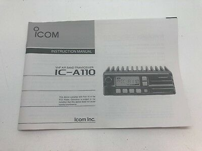 Globe Roamer Icom IC-A110 Owner's Instruction Manual