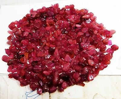 Wonderful Unheated Natural Rough Red Ruby Mozambique Lot