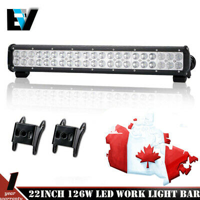 22 inch 126w LED Work Light Bar Flood Spot Combo Offroad Driving SUV 4WD ATV 20