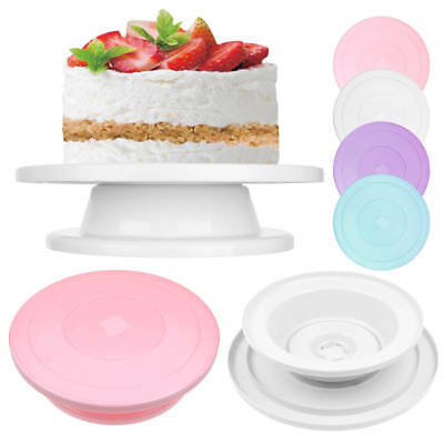 28cm Kitchen Cake Decorating Icing Rotating Turntable Cake Display Stand Plastic