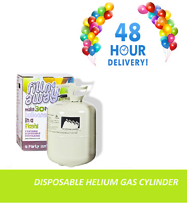 Balloon Gas Disposable Helium Cylinder Canister Birthday Party 30 / 150 Balloons