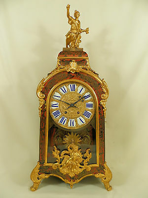 Large Antique French Bronze Boulle Bracket Clock ca 1880