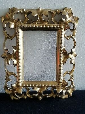 Antique Vintage Italian Rococo Wood Gold Gilded Picture Framd