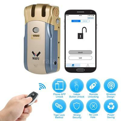 WAFU inalámbrico Intelligent Lock Security Invisible Keyless 4 llaves remotas V2