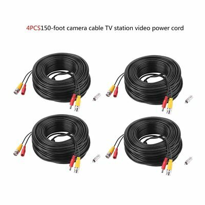 4x150ft Security Camera Video Power Cable BNC RCA CCTV DVR Extension Cord BR