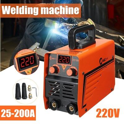 200Amp Welding Inverter Machine LCD Digital MMA/ARC Portable Welder ZX7-200C UK