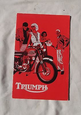 1963 Triumph Motorcycle Sales Brochure Tiger Cub Tiger Speed Twin Thunderbird