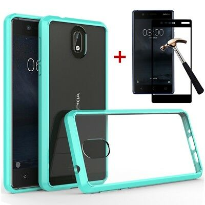 Hybrid Shockproof Luxury Rubber Tough Bumper Clear Hard Case Cover For Nokia 3.1