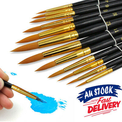 Paint Acrylic Painting Watercolour Brushes Paints Set Craft Artist Kit Oil Face
