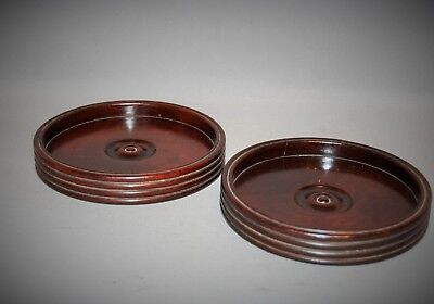 Quality Pair of C18th Cuban Mahogany Coasters