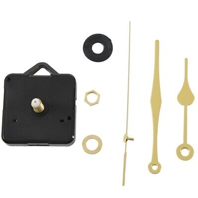 2X(Quartz Clock Movement Mechanism Gold Hands DIY Repair Parts Kit K5A7)