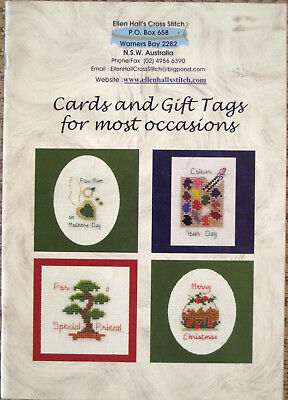 Cross Stitch instructions for cards & gift tags for most occasions by Ellen Hall