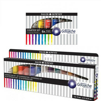Daler Rowney AQUAFINE GOUACHE 15ML SET OF 6 AND 12