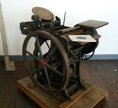 Chandler & Price Printing Press early 1900's