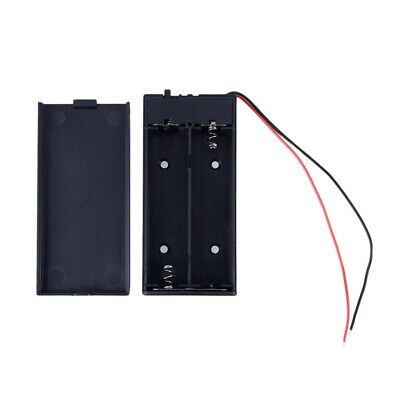 2X(3.7V 2x 18650 Battery Holder Connector Storage Case Box ON/OFF Switch W I1D3)