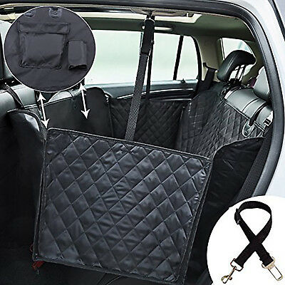 PET BACK SEAT COVER Truck SUV Travel Dog Car Waterproof Protector Mat Black