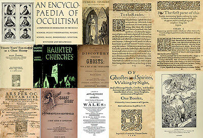 Occult books Medieval to 20th century Witches ghosts Daemons Spirits dvd cd rom
