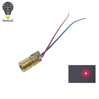 Wavgat 5v 650nm 5mw Adjustable Laser Dot Diode Module Red Sight Copper Head Mini