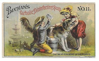Buchan's Carbolic Disinfecting Dog Soap Victorian Trade Card