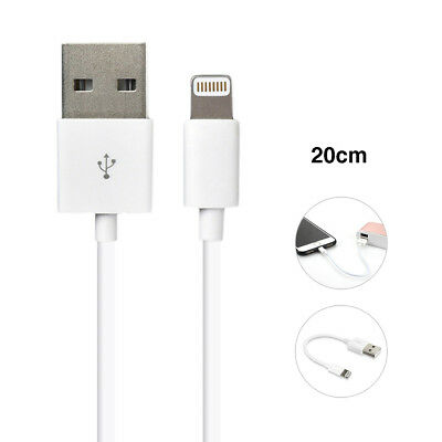Short 20cm Apple White USB Cable Cord Charger iPhone X 8 7 6 5 5s iPad