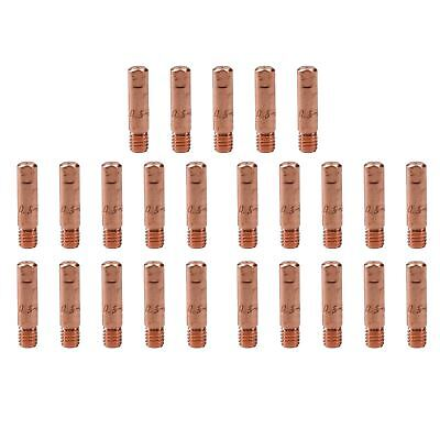 0.6mm Mig Welding Welder Round Contact Tips for MB15 Euro Torches 25pk