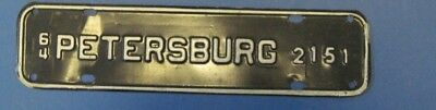 1964 Petersburg license plate attachment from Virginia