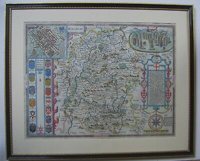 Wiltshire: antique map by John Speed, 1611 (1614 or 1627 edition)